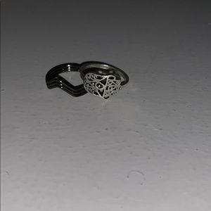 Black ring & Silver ring